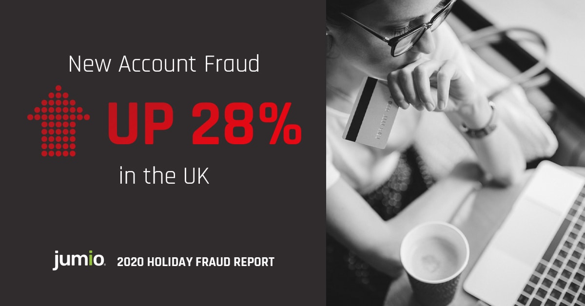 New Account Fraud Up 28% in UK Jumio 2020 Holiday Fraud Report